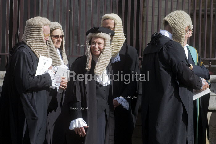 Lord Chancellors breakfast. Traditional procession of Judges to the Houses of Parliament to mark official start of year in the British legal system, London. - Stefano Cagnoni - 2017-10-02