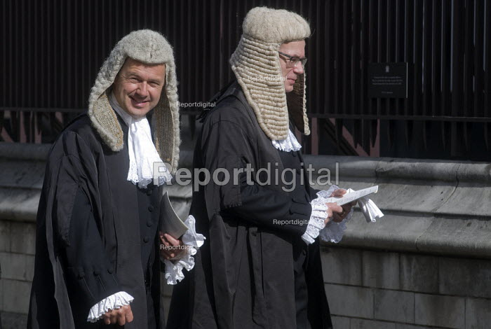 Lord Chancellors breakfast. Traditional procession of Judges to the Houses of Parliament to mark official start of year in the British legal system, London. Queens Counsels in full ceremonial dress file into Parliament - Stefano Cagnoni - 2017-10-02