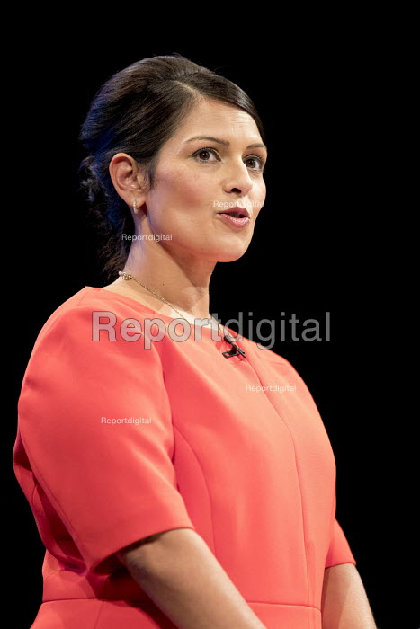 Priti Patel speaking Conservative Party Conference, Manchester 2017 - Jess Hurd - 2017-10-03