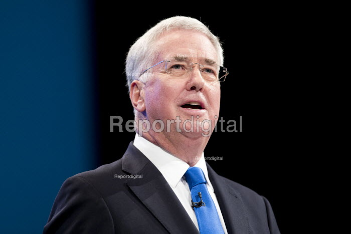 Michael Fallon speaking Conservative Party Conference, Manchester 2017 - Jess Hurd - 2017-10-03