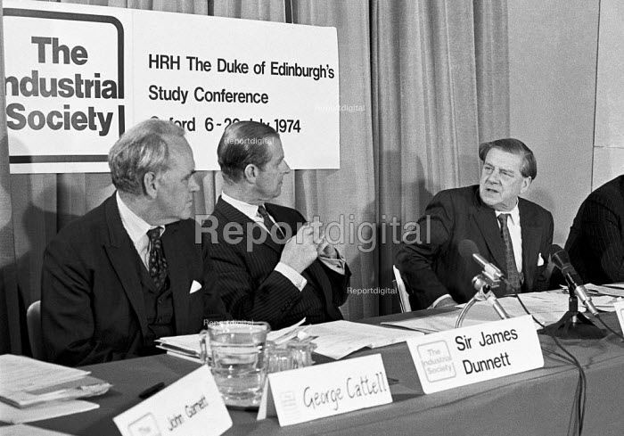 Vic Feather TUC and the Duke of Edinburgh prior to The Duke of Edinburghs Study Conference London 1974. The Industrial Society - Martin Mayer - 1974-04-13