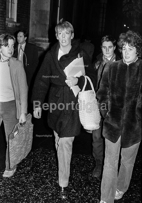 Actress Frances de la Tour protest in support of women prisoners in Armagh jail, 1980. 33 women were imprisoned in Armagh Gaol and three were on hunger strike - Martin Mayer - 1980-12-11