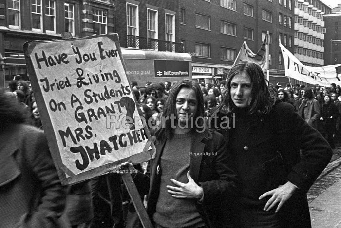 Student protest for higher grants to live on, London 1973 - NLA - 1973-02-21