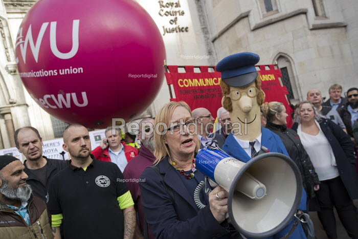 Gill Furniss MP and Postman Pat supporting CWU protest... - Jess Hurd, jj1710045.jpg
