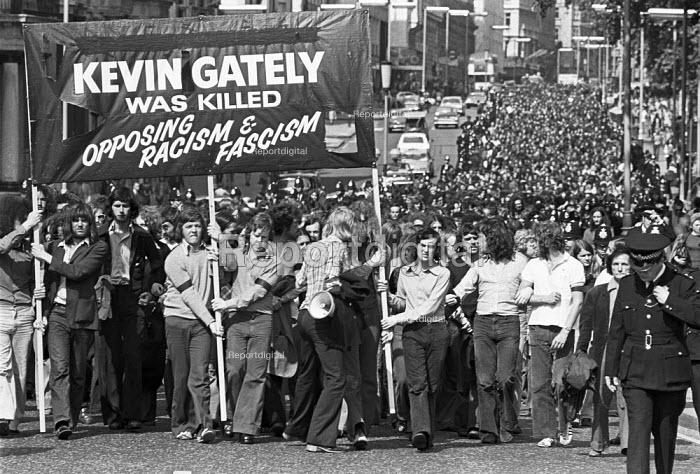 1974 Protest to mark the death of Kevin Gately in Red Lion... - NLA, NLA1706067.jpg