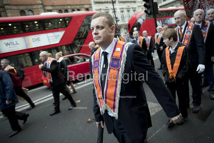 The Orange Order marching to The Cenotaph, Remembrance... - Jess Hurd, jj1711035.jpg