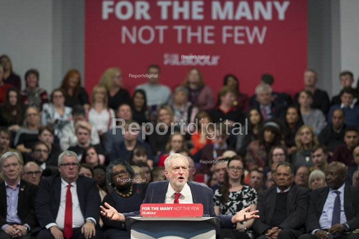 Jeremy Corbyn speaking Labour Party Rally West Bromwich - John Harris, J1711WB30.JPG