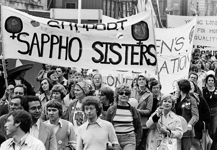 Support Sappho Sisters, Gay Pride march 1977 protesting... - John Sturrock, RAJS7756.jpg