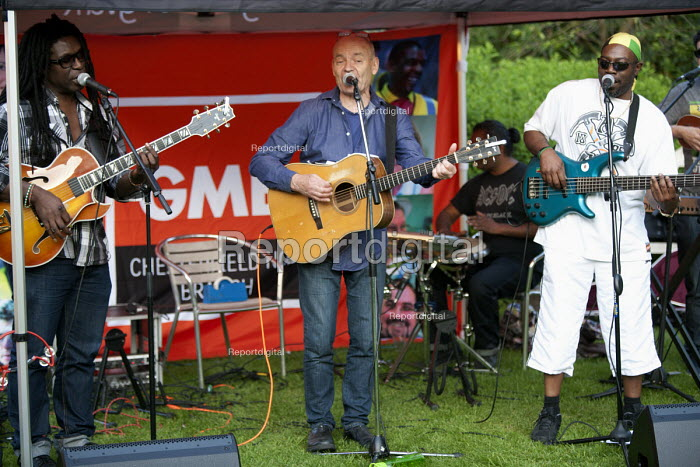 The First of May Band playing GFTU Next Generation Festival, Quorn Grange Hotel. Fred Wisdom, Dave Rogers, Vince Pryce - John Harris - 2014-05-17