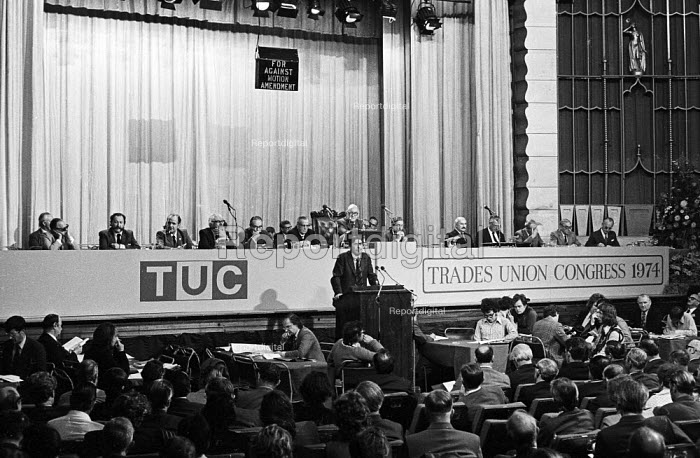 Mick McGahey NUM speaking TUC Brighton 1974 - Chris Davies - 1974-09-04