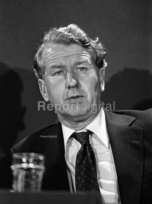 Peter Walker at a Conservative Party EEC election press conference soon after becoming the new Minister of Agriculture, Fisheries and Food - Martin Mayer - 1979-05-18