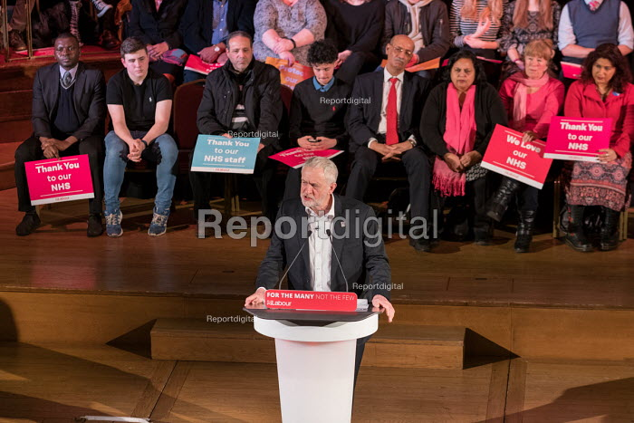 Jeremy Corbyn speaking Labour Care for the NHS rally, Central Hall Westminster, London - Philip Wolmuth - 2018-01-25