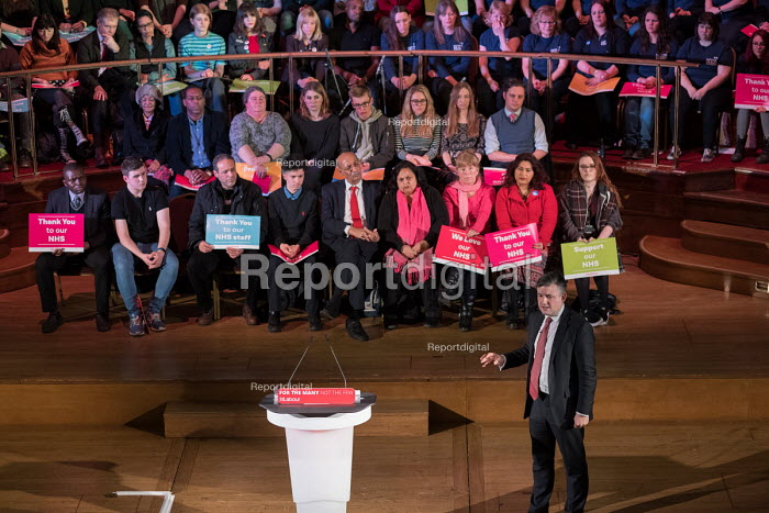 Jonathan Ashworth MP speaking Labour Care for the NHS rally, Central Hall Westminster, London - Philip Wolmuth - 2018-01-25