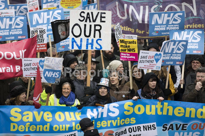 NHS in Crisis - Fix it now protest organised by the Peoples Assembly and Health Campaigns Together, Central London - Jess Hurd - 2018-02-03