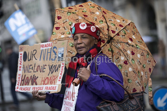 NHS in Crisis - Fix it now protest organised by the Peoples Assembly and Health Campaigns Together, Central London. - Jess Hurd - 2018-02-03
