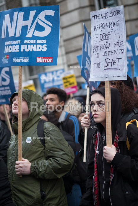NHS in Crisis - Fix it now protest organised by the Peoples Assembly and Health Campaigns Together, Central London - Philip Wolmuth - 2018-02-03