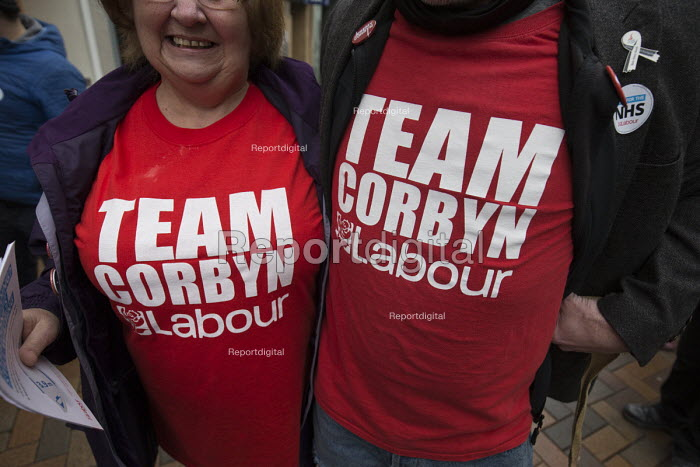 Team Corbyn t-shirts, NHS in Crisis - Fix it Now protest, Gloucester - John Harris - 2018-02-03