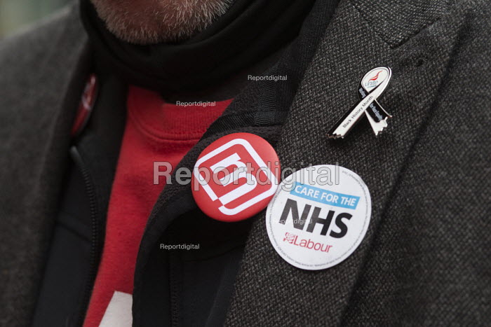 Momentum supporter NHS in Crisis - Fix it Now protest, Gloucestershire - John Harris - 2018-02-03