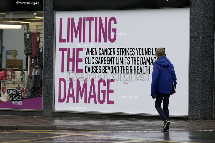 Limiting the Damage, CLIC Sargent charity shop, a cancer charity for children, young people and their familiesGloucester city centre - John Harris - 2018-02-03