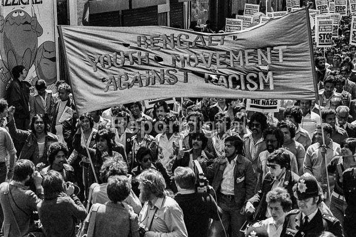 Bengali Youth Movement, Anti Nazi League protest against the National Front, Brick Lane, East London 1978 - NLA - 1978-06-18