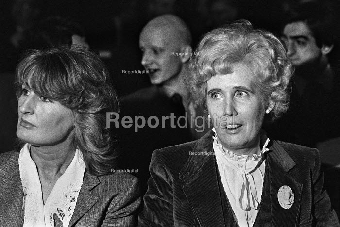 Lady Annabel Goldsmith and Baroness Falkender, Institute of Directors Annual Convention, London 1979 - NLA - 1979-03-30