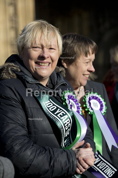 Sisters Angela and Maria Eagle, Labour launches campaign to celebrate 100 years of womens suffrage with female members of the Shadow Cabinet and Labour politicians, Houses of Parliament, Westminster, London. - Jess Hurd - 2018-02-06