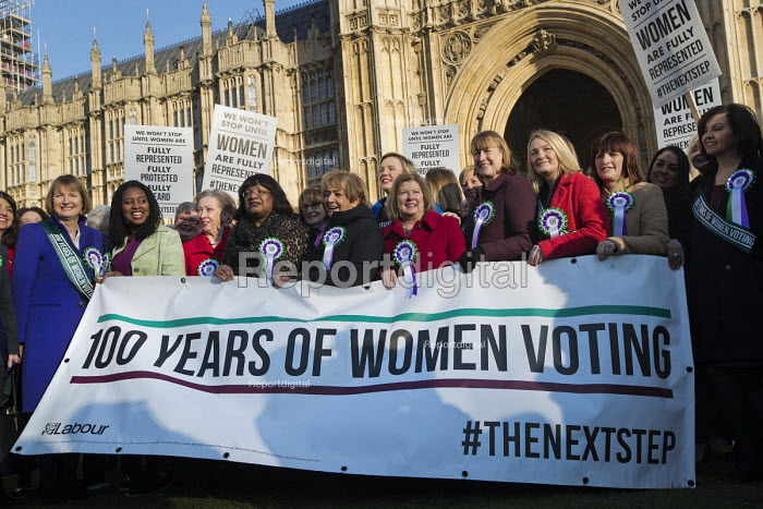 Labour launches campaign to celebrate 100 years of womens suffrage with female members of the Shadow Cabinet and Labour politicians, Houses of Parliament, Westminster, London. - Jess Hurd - 2018-02-06