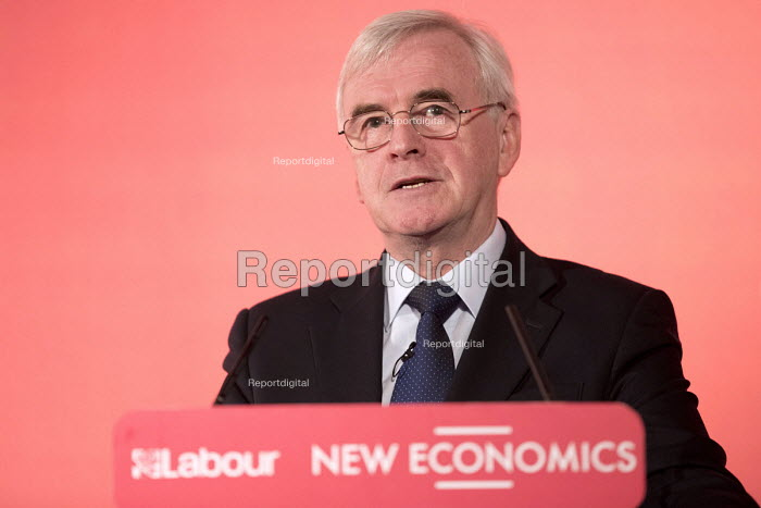 John McDonnell speaking, New Economics, Alternative Models of Ownership Labour Party conference, London - Jess Hurd - 2018-02-10