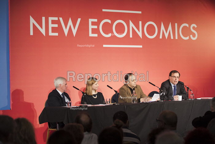 Gareth Thomas Co-Operative Party speaking, New Economics, Alternative Models of Ownership Labour Party conference, London. John McDonnell, Cat Hobbs, Professor Andrew Cumbers - Jess Hurd - 2018-02-10