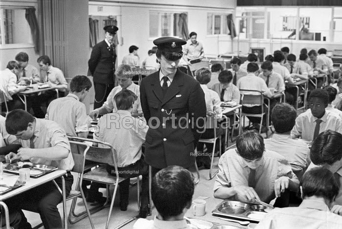 Prison for young offenders, Woking 1983. The Criminal Justice Act 1982 abolished the borstal system, replacing it with a network of youth custody centres - Katalin Arkell - 1983-02-10