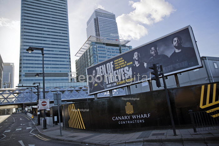 Den of Thieves, American heist film advertisement, Canary Wharf, Bank of America, London Docklands - Jess Hurd - 2018-02-12