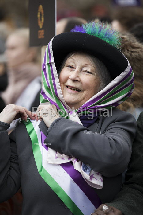 March4Women retracing the historic steps of the suffragettes past Parliament to Trafalgar Square organised by CARE International UK, Westminster, London - Jess Hurd - 2018-03-04