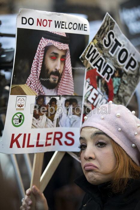 Protest against Saudi Prince Mohammed Bin Salman visit, Downing Street, London - Jess Hurd - 2018-03-07