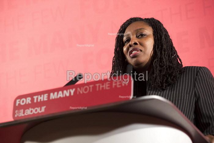 Dawn Butler MP introducing John McDonnell MP, Pre-Spring Statement speech, London - Jess Hurd - 2018-03-09