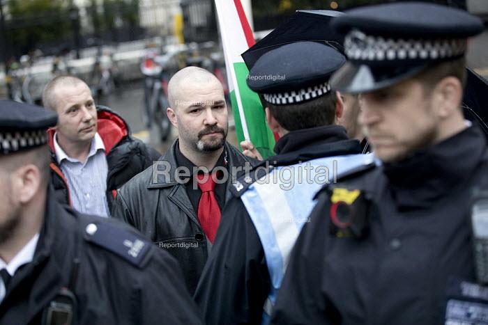 Anti fascist protest outside a secret meeting of Jobbik, a far right Hungarian political party, South Kensington, London - Jess Hurd - 2018-03-09