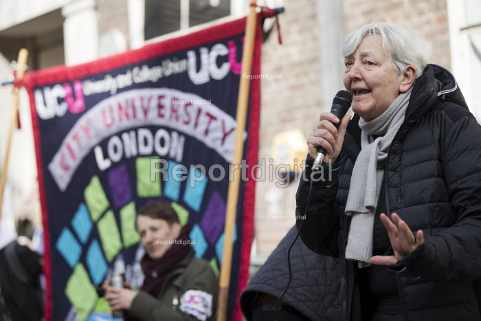 Candy Udwin PCS speaking UCU university lecturers pensions strike, London - Jess Hurd - 2018-03-14