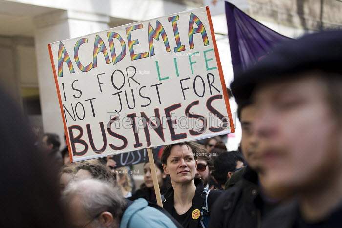 UCU university lecturers pensions strike protest, London - Jess Hurd - 2018-03-14