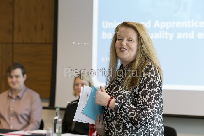 Kirsi Kekki unionlearn speaking, Unions and Apprenticeships boosting quality and equality, Birmingham - John Harris - 2018-03-09