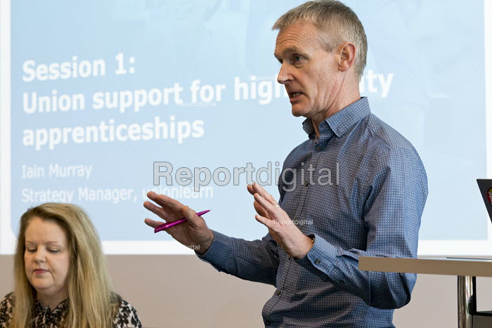 Iain Murray unionlearn speaking, Unions and Apprenticeships boosting quality and equality, Birmingham - John Harris - 2018-03-09