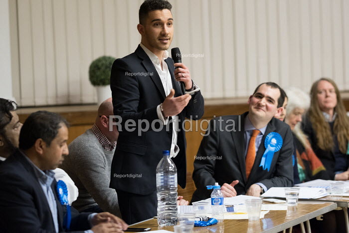 Axel Kaae Conservative, Hustings with Conservative, Labour, Liberal Democrats and Green local election candidates for 2 council wards Camden, London - Philip Wolmuth - 2018-04-09