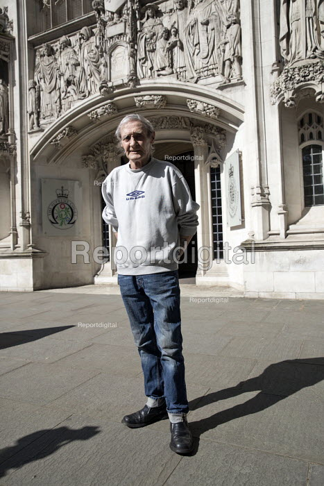 Paddy Hill, Birmingham Six, Justice for Sam Hallam appeal for compensation for miscarriage of justice at the Supreme Court, London - Jess Hurd - 2018-05-08