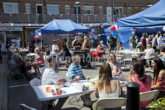 East End street party for the wedding of Prince Harry and Meghan Markle. - Jess Hurd - 2018-05-18