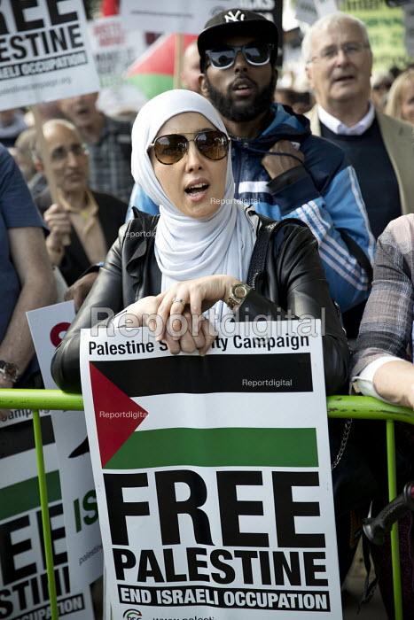 Pro Palestine Protest on the eve of Benjamin Netanyahu visit, Downing Street, Whitehall, London - Jess Hurd - 2018-06-05