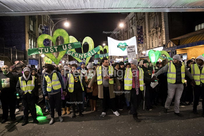 Justice for Grenfell six month anniversary silent walk, Kensington and Chelsea, London - Jess Hurd - 2017-12-14
