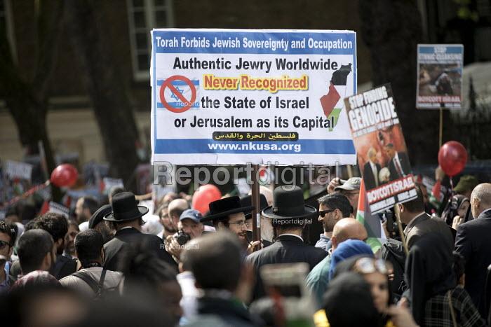 Orthodox Jews supporting annual Al Quds pro Palestinan protest, London - Jess Hurd - 2018-06-10