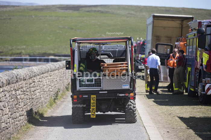 Paramedic deployed to Saddleworth Moor fire, Stalybridge, Derbyshire - Jess Hurd - 2018-06-28