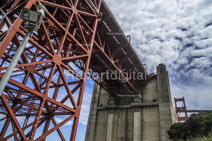 San Francisco, California, USA: The anchorage of The Golden Gate Bridge - David Bacon - 2018-07-07