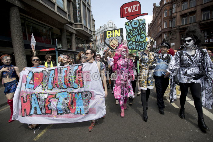 Drag Protest from Soho, Together Against Trump protest against the visit to the UK by US President Donald Trump, London - Jess Hurd - 2018-07-13