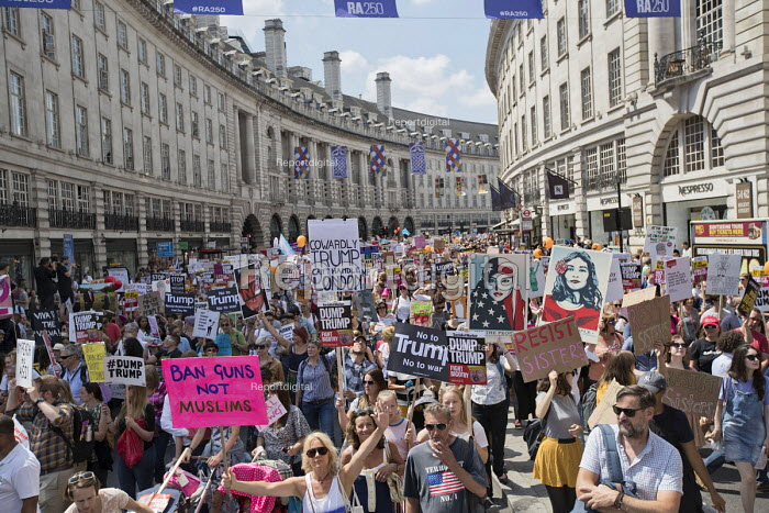 Women's March protest against the visit to the UK by US President Donald Trump, London - Jess Hurd - 2018-07-13