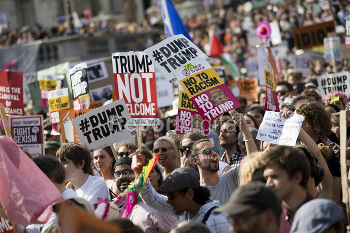 Together Against Trump protest against the visit to the UK by US President Donald Trump, London - Jess Hurd - 2018-07-13